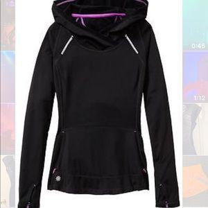 Athleta Plush Tech Wrap Front hoodie